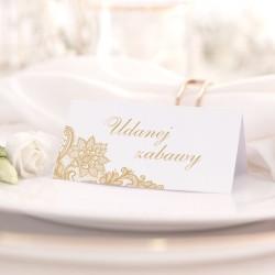 WIZYTÓWKA personalizowana na ślub Elegancja Złota