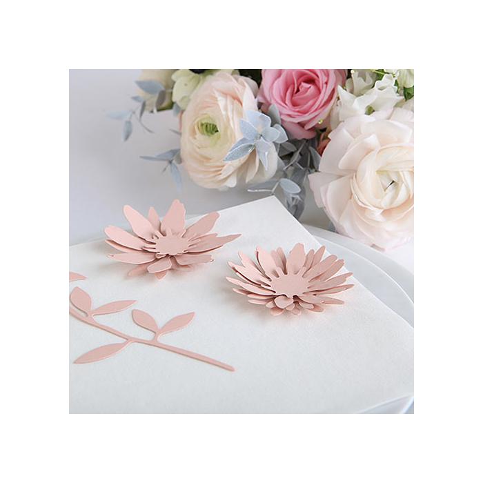 Dekoracja Papierowe Kwiaty Do Własnej Aranżacji Pudrowy Róż
