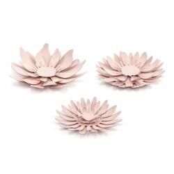 DEKORACJA Papierowe Kwiaty do własnej aranżacji Pudrowy Róż 3szt