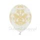 BALONY ze złotym ornamentem 30cm 6szt