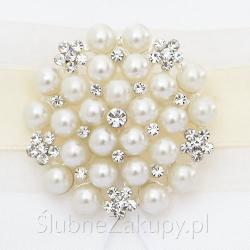 BROSZKA dekoracyjna Pearly Pearls Złota Elegancja PROMOCJA
