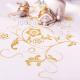 BIEŻNIK/organza biała Złote Kwiaty 36cmx9m