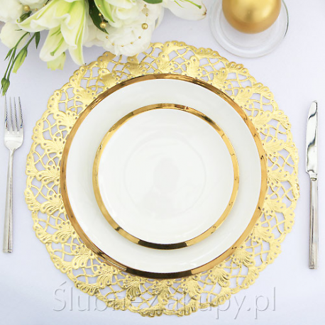 PODKŁADKA pod ciasto/talerze złota 36cm