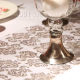 BIEŻNIK/organza Złoto-Srebrny Wzór 36cmx9m