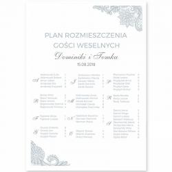 PLAN stołów personalizowany Srebrna Koronka