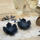 DEKORACJA Kwiaty z papieru DUŻE 10cm 3szt