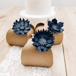 DEKORACJA Papierowe Kwiaty do własnej aranżacji 3szt