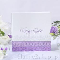 KSIĘGA GOŚCI weselnych kolekcja Fioletowa KONIEC SERII