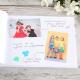 KSIĘGA Wspomnień dla Rodziców Róże Vintage BIAŁE/CZARNE KARTKI