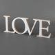 NAPIS dekoracyjny biały z drewna Love MEGA DUŻY 16x45cm