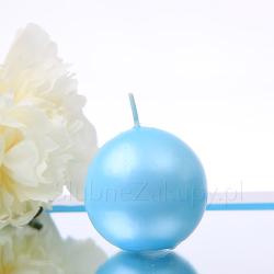 ŚWIECE kule metalizowane Tiffany Blue 6cm 10szt