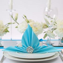 SERWETKI flizelinowe Airlaid Tiffany Blue 40x40cm 50szt