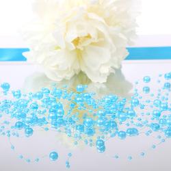 GIRLANDY z pereł i perełek na żyłce Tiffany Blue 5szt