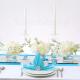 DIAMENCIKI ozdobne na stoły Tiffany Blue 100szt