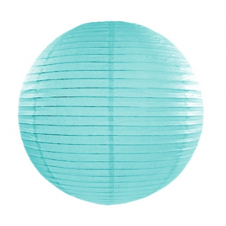 LAMPION papierowy Tiffany Blue 35cm