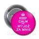 PRZYPINKI weselne keep calm and ... 10szt