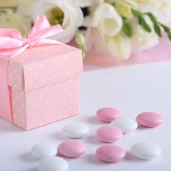PASTYLKI czekoladowe białe+różowe opakowanie 200g