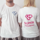 KOSZULKA z dwustronną grafiką Super Świadek/Super Świadkowa