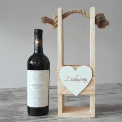 NOSIDŁO drewniane na butelkę Dziękujemy PREZENT