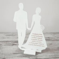 PODZIĘKOWANIE dla Rodziców drewniane Złączeni Miłością
