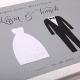 KSIĘGA GOŚCI weselnych Rękodzieło BIAŁE/CZARNE KARTKI (+wstążka)
