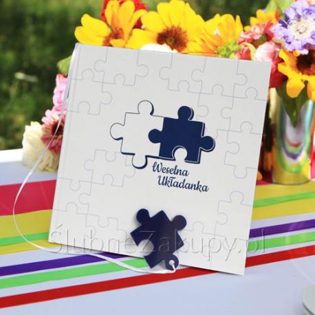 KSIĘGA GOŚCI weselnych Puzzle Super Zabawa!