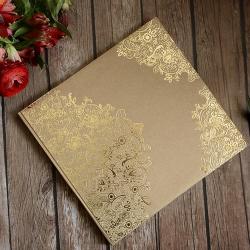 KSIĘGA GOŚCI weselnych ze złotym tłoczeniem a'la koronka