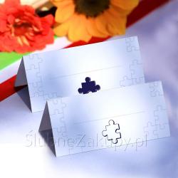 WIZYTÓWKI do wypisania Puzzle 20szt KONIEC SERII