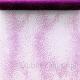 BIEŻNIK/organza fioletowa Kropki/Fale 30cmx5m KONIEC SERII