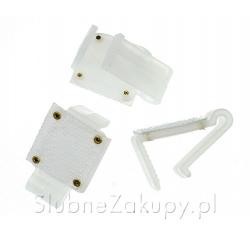 KLIPSY do mocowania skirtingów plastikowe 10szt