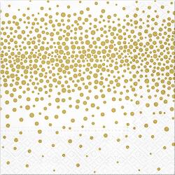 SERWETKI papierowe Confetti Gold 33x33cm 20szt