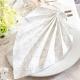 SERWETKI flizelinowe Saphira White 40x40cm 50szt