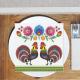 SERWETKI papierowe Koguciki Folklor 33x33cm 20szt