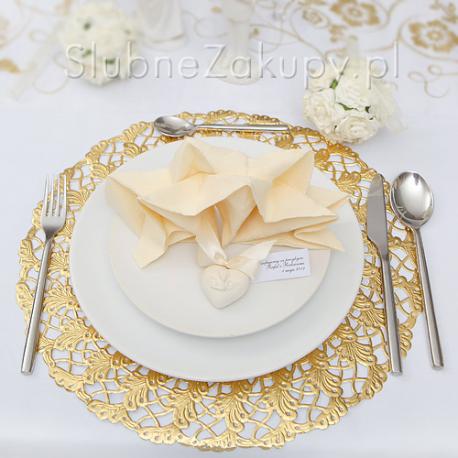 PODKŁADKI pod ciasto/talerze złote 100szt HURT