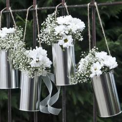 PUSZKI dekoracyjne srebrne 5szt KONIEC SERII