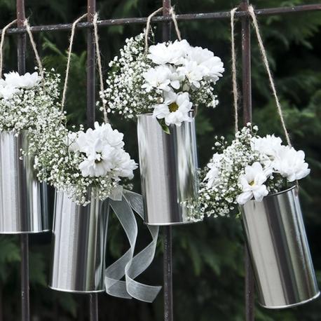 PUSZKI dekoracyjne srebrne 5szt