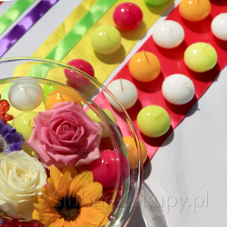 ŚWIECE PŁYWAJĄCE kulki połysk wybór kolorów 25szt