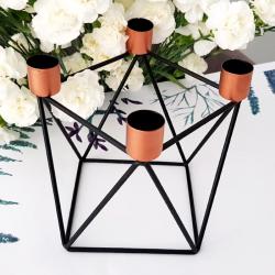 świecznik geometryczny nowoczesny na 4 świece OSTATNIA SZTUKA
