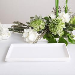 PODSTAWKA biała na świece i kwiaty 14x27cm