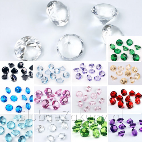 DIAMENCIKI ozdobne na stoły 2cm 10szt