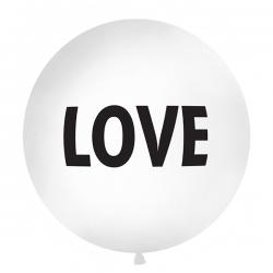BALON pastelowy olbrzym Love 1 METR