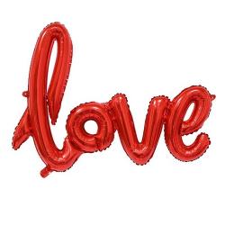 BALONY foliowe LOVE czerwone 68cm