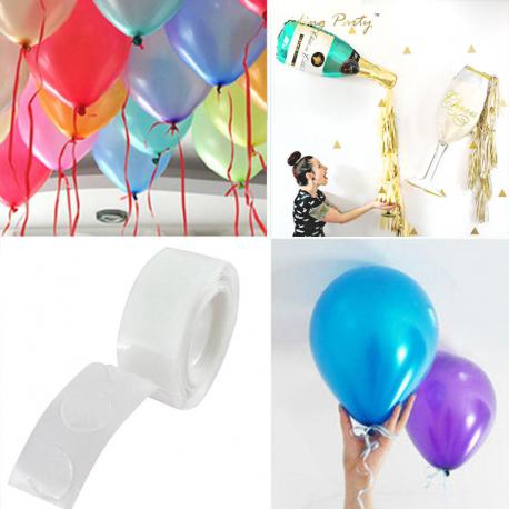 PRZYLEPCE z klejem do balonów 100szt