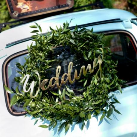 NAPIS dekoracyjny Wedding 45cm 2 KOLORY!