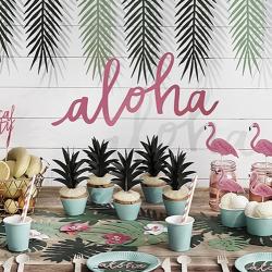 BANER dekoracyjny Aloha Tropical Party 19x47cm KONIEC SERII