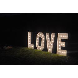 NAPIS świetlny ogromne LOVE