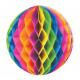 KULE bibułowe plaster miodu TĘCZOWE 3szt