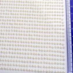 PEREŁKI białe aplikacje z klejem 0,3cm 700szt