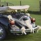 ZESTAW do dekoracji auta kokardy+materiał