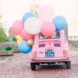 BALON pastelowy do dekoracji auta Olbrzym 1m